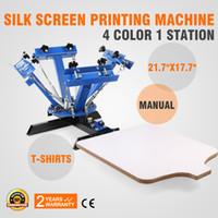 screen printing - 4 Color Station Silk Screening Screenprint Press Screen Printing Machine