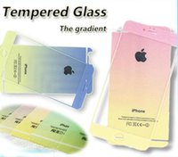 backing powder - New Iphone Jelly Color Screen Film Shimmering Change Screen Protector Tempered Glass Powder Gradual Front Back