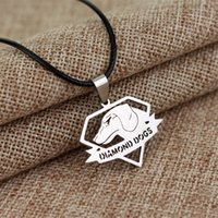 american gear - Metal Gear Solid Pendant Necklaces Diamond Dogs Stainless Steel European Charms Necklaces Hot Sale Game Jewelry For Men Accessories