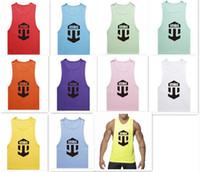 Wholesale 20pcs colors etnies MenTank Top Sport Sleeveless Brand ADDICTED sexy X printing tank men s gym vest sport tank