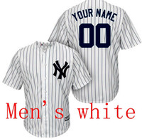 Wholesale to all country Baseball jersey New York Yankees Custom jersey Personalized jersey any name any number name number Stitched