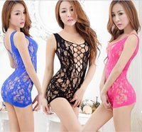 red tube sexy - Hot Women Sexy Lingerie Mesh Hollow Out Baby Doll Mini Chemise Tube Dress Bodysuit Erotic Lingerie Lace Dress Condole Belt Skirt See Through