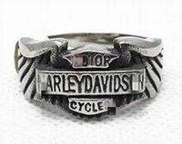 Wholesale Hot Sale Famous Brand L Stainless Steel Motor Biker Rings For Men Jewelry