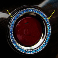 Black blue  100PCS Track Blue AUTO DECORATIVE ACCESSORIES Car BUTTON START Switch Diamond Ring Interior Accessories decration DIY