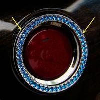 auto start switch - 1PCS Track Blue AUTO DECORATIVE ACCESSORIES Car BUTTON START Switch Diamond Ring Interior Accessories decration DIY