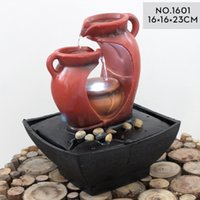 bamboo water feature - European style Feng Shui Lucky water fountain wedding gifts water features bonsai crystal ball office desktopOffice Decoration