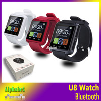 Wholesale Bluetooth Smartwatch U8 U Watch Smart Watch Wrist Watches for iPhone S s s plus SE Samsung S7 EDGE S6 EDGE S5 Note5 LG HTC Android Phone