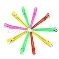 Wholesale New Colorful Hairdressing Sectioning Clips Clamps Hair Salon Styling Grip