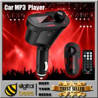 audio mmc cards - Car mp3 player LCD Wireless FM transmitter Radio Modulator MP3 WMA USB SD MMC SD Card FM Audio mp3 music player Color