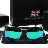 Wholesale 2016 Victoria Beckham Famous Brand VB Designer Women Men Sun glasses Vintage UV400 polarized Sunglasses With Original Package