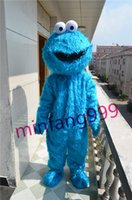 Wholesale 2016 Sesame Street Elmo Blue Cookie Monster Halloween Mascot Costume Fancy Party Dress Suit