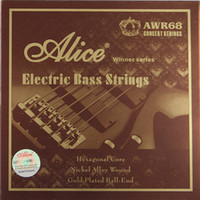 Wholesale NEW Alice Electric Bass strings inch Hexagonal Core Nickel Alloy Wound Gold Plated Ball End strings set