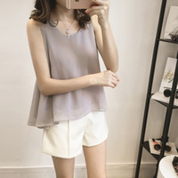 Wholesale Summer Camisole dress new Korean Lace Chiffon shirt coat color code all match