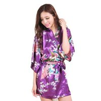bath gown styles - Fashion Women Peacock Kimono Japanese style Bath Robe Nightgown Gown Yukata Bathrobe Sleepwear With Belt S M L XL XXL XXXL