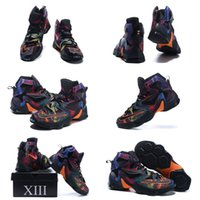 Wholesale With shoes Box Hot Sale High Quality Lebron XIII Akronite Philosophy Shoes Men Shoes