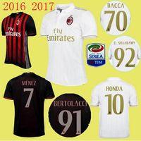 ac shirts - New AC Milan soccer jersey BACCA home red away white BERTOLACCI MENEZ HONDA top quality AC Milan football shirts soccer jersey