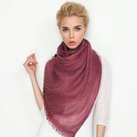 Promotion 9 couleurs Wholesale Foulards en soie Mesdames Nouvelle écharpe de coton de soie Designer Double Layer Fold Air Sense Châles Echarpe cadeaux livraison gratuite