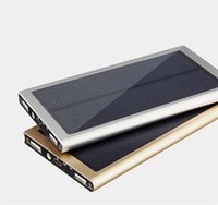 Wholesale Selling Laptop Chargers - Hot Selling Dual USB Solar Battery Chargers 20000mAh Portable Solar Energy Panel Charger Power Bank For Cellphone