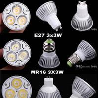 Bulbo del proyector del CREE 9W LED E27 GU10 GU5.3 MR16 E14 Bombillas de la seguridad 5 años de garantía FREE SHIPPIN