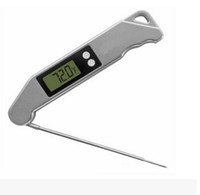 Wholesale TS BN61 barbecue thermometer barbecue thermometer barbecue forks folding fork Electronic thermometer meat fork Barbecue grill thermometer
