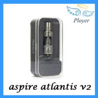 Wholesale Aspire atlantis Tank ml Atlantis V2 atomizer Sub Ohm Coil updated Atlantis Clearomizer vs kanger subtank Arctic Tank free DHL