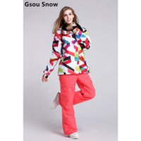 Wholesale New arrival brand ski suit set women snowboard Sport Suit Waterproof windproof pants outdoor jacket woman tracksuit