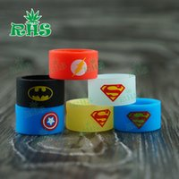 Wholesale Superhero Vape rings e cigarette mod silicon band vape ring silicon ring for box mod decorative and protection vape mod DHL free