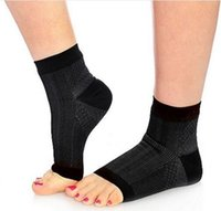 ankle compression sleeve - Men Women Running Cycle Basketball Sports Socks Men Outdoor Foot Fatigue Compression Foot Sleeve Men s Sock