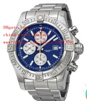 avenger watches - Luxury High Quality mm Super Avenger II SuperAvenger Blue Dial Chronograph Stainless Steel Mens Watch Watches