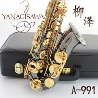 alto sax music - Professional Japan Yanagisawa Gold Plated Carving Saxophone Alto Eb Sax Brass Instruments Music Saxofone Alto A