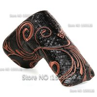 Wholesale New Bees Styles Black Golf Blade Putter Headcover Covers Synthetic Leather Magenetic Closure