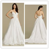 Wholesale Sweatheart Backless Wedding Gowns - spaghetti straps wedding gowns cheap backless sweatheart a line long wedding dresses bridal gowns sweep train Wedding dress