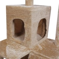 Wholesale Cat Tree Tower Condo Furniture Scratch Post Pet Home Bed Beige