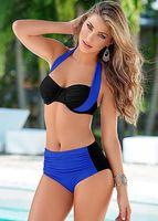 beach wear style - 2016 New Contrast Colors Bandage Style Sexy Bikini Lady Womens Bikinis Swimwear Hot Swimsuits Female Spa Beach Swimming Wear S XL