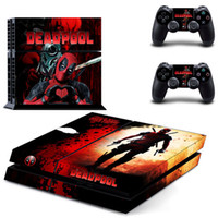 Cheap Deadpool PS4 Sticker Vinly Skin + 2 controller skins PS4 Decal Stickers for PS4 System Playstation 4 Console