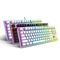 backlit film - New Arrival RAPOO V500 RGB color backlit mechanical keyboard protective film waterproof keyboard covers for desktop laptop