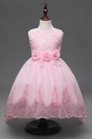 Wholesale Baby girls summer trade hook flower dress small flower flower skirt tail wedding dress skirt free ship