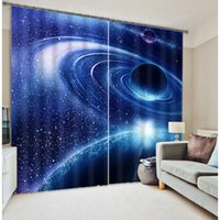 Wholesale 2016 New D printing Blackout Curtain Custom Space Universe Planet Colors for Choose Children s Curtain for Window Living Room A