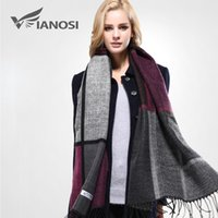 acrylic blanket - 2016 Warm Blanket Scarf Woman Gorgeous Wrap Long Tassel Plaid Thick Brand Shawls and Scarves for Women