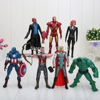 Wholesale The Avengers Figure Sets1Set Marvel Iron man Hulk Thor Captain America Black widow