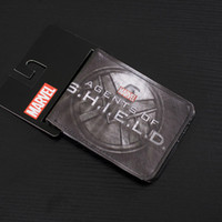 agent animation - Comics DC Marvel Wallets Agents of SHIELD Animation Purse Fashion Casual Men Women Gift Leather Bags Cartoon Short Wallet
