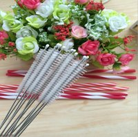 Wholesale 8 inch Nylon Straw Cleaners Cleaning Brush for Drinking Pipe Stainless Steel Glass mm mm