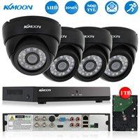 Wholesale KKMOON TVL Security Camera System CH Full N P AHD CCTV DVR HDMI P2P Onvif DVR Recorder T HDD IR Indoor Camera Kit