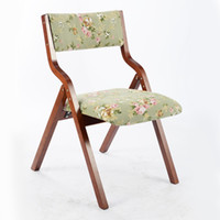 armrest dining chair - Modern Functional Foldable Armrest Dining Chair Fabric Padded Seat and Back Dining Room Furniture Wood Folding Chair Design