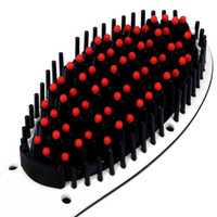 Wholesale electronic hair brush portable hair straighteners With LCD Display Electronic Temprature Adjustable straightening brush ceramic heating