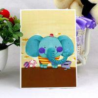 beautiful postcards - Korea creative cute postcards Small animal beautiful creative cards cartoon send children blessing gifts a box boxes a