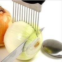 Wholesale Creative Kitchen Gadgets Hamstring knife and fork onion pork needle is inserted onion fruit fork