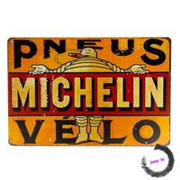 auto tire service - Tin signs quot Michelin Pneus Velo quot Wheels Tires Parts Service Auto Shop Garage Wall Decor I189