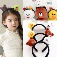 baby bear hair accessory - Girls Headbands Fashion Brand Toy Children Hair Accessories Animal Headband Designer Bear Headband Baby Girls barrettes Headwear