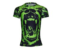 sublimation shirt - Personality quick drying t shirts heat sublimation transfer printing short sleeve T shirt male money fitness running d printing sportswear